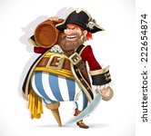 old pirate with a wooden leg... | Shutterstock .eps vector #222654874
