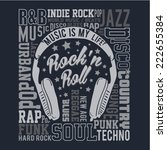 music typography  rock  t shirt ... | Shutterstock .eps vector #222655384