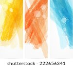 banner vertical templates with... | Shutterstock .eps vector #222656341