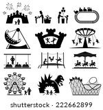 amusement park icons. children... | Shutterstock .eps vector #222662899