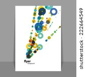 flyer or cover design with... | Shutterstock .eps vector #222664549