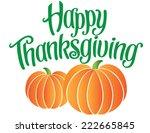 happy thanksgiving hand... | Shutterstock .eps vector #222665845