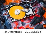 hard disk drive inside and...