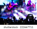 people taking photographs with... | Shutterstock . vector #222667711