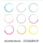 set of color grunge circles...   Shutterstock .eps vector #222668419