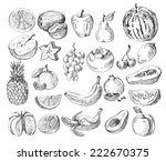 vector set of different hand... | Shutterstock .eps vector #222670375