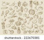 vector set of different hand... | Shutterstock .eps vector #222670381