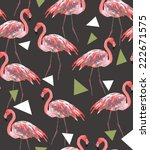 seamless flamingo vector... | Shutterstock .eps vector #222671575
