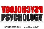 psychology text black and red... | Shutterstock . vector #222673324