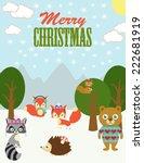 merry christmas card | Shutterstock .eps vector #222681919