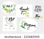 wedding set of cards  menu  map ... | Shutterstock .eps vector #222683545
