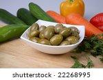 green olives | Shutterstock . vector #22268995