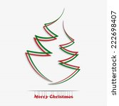 merry christmas and happy new... | Shutterstock .eps vector #222698407