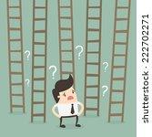 ladder to success. business...   Shutterstock .eps vector #222702271