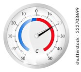 Round Thermometer   Vector...