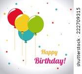 birthday design over white... | Shutterstock .eps vector #222709315