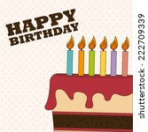 birthday design over white... | Shutterstock .eps vector #222709339