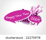 new year 2009 greeting pattern  ... | Shutterstock .eps vector #22270978
