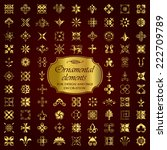golden ornamental elements for... | Shutterstock .eps vector #222709789