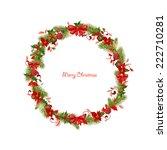wreath for you design | Shutterstock .eps vector #222710281