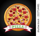 pizza graphic design   vector... | Shutterstock .eps vector #222714481