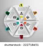 paper infographics parts of a... | Shutterstock .eps vector #222718651