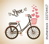 love graphic design   vector... | Shutterstock .eps vector #222724417