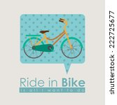 bike design over beige... | Shutterstock .eps vector #222725677