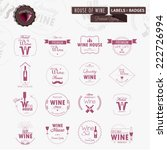 set of line wine badges and... | Shutterstock .eps vector #222726994