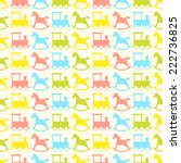 seamless vector pattern with... | Shutterstock .eps vector #222736825