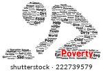 Poverty Word Cloud Shape Concept