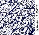Fishes Vector Seamless Pattern...