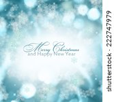 abstract christmas background... | Shutterstock . vector #222747979