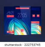 mobile interface wallpaper... | Shutterstock .eps vector #222753745