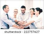 picture of happy business team... | Shutterstock . vector #222757627