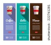 coffee flyers set in flat... | Shutterstock .eps vector #222761281
