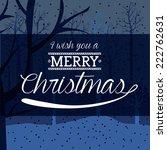 christmas design over blue... | Shutterstock .eps vector #222762631