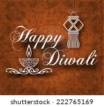 diwali vintage background with... | Shutterstock .eps vector #222765169