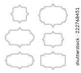 empty blank vintage frame  set  ... | Shutterstock .eps vector #222768451