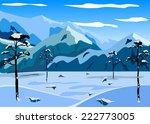 mountain winter landscape. | Shutterstock .eps vector #222773005