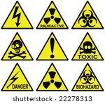 danger signs collection   vector | Shutterstock .eps vector #22278313