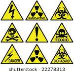 danger signs collection   vector | Shutterstock .eps vector #22278313