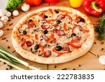 supreme pizza | Shutterstock . vector #222783835