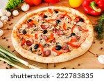 supreme pizza | Shutterstock . vector #222783835