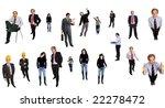 people in studio  individual... | Shutterstock . vector #22278472