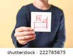 drawing in hand hotel | Shutterstock . vector #222785875