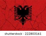 albania  albanian flag on... | Shutterstock .eps vector #222803161