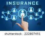 insurance concept with hand... | Shutterstock . vector #222807451
