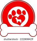 veterinary red circle label... | Shutterstock .eps vector #222808429