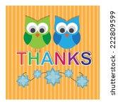 happy thanksgiving day. vector | Shutterstock .eps vector #222809599